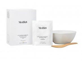 Medik8 Activated Charcoal Refining Mask (Kit) Pleťová maska s aktivním uhlím