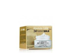 Abolute CARE 24 Karat Gold ILLUMINATING DAY & NIGHT CREAM Rozjasňujúci denný & nočný krém 50ml obrázok 1