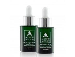 Marina Miracle - Veľké výhodné balenie Herbal Face Oil & Argan Night Serum