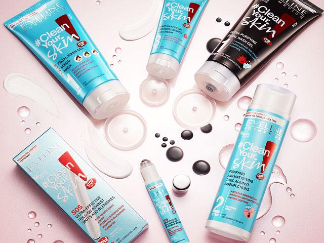 Eveline cosmetics Clean Your skin nová kosmetika pro problematickou pleť
