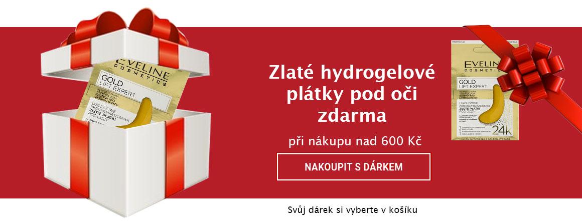 Zlaté hydrogelové plátky pod oči ZDARMA k nákupu nad 600 Kč | evelio.cz