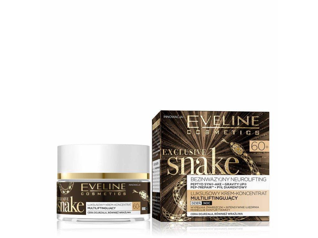 Eveline cosmetics Exclusive snake pleťový krém s hadím jedem 60+ | evelio.cz