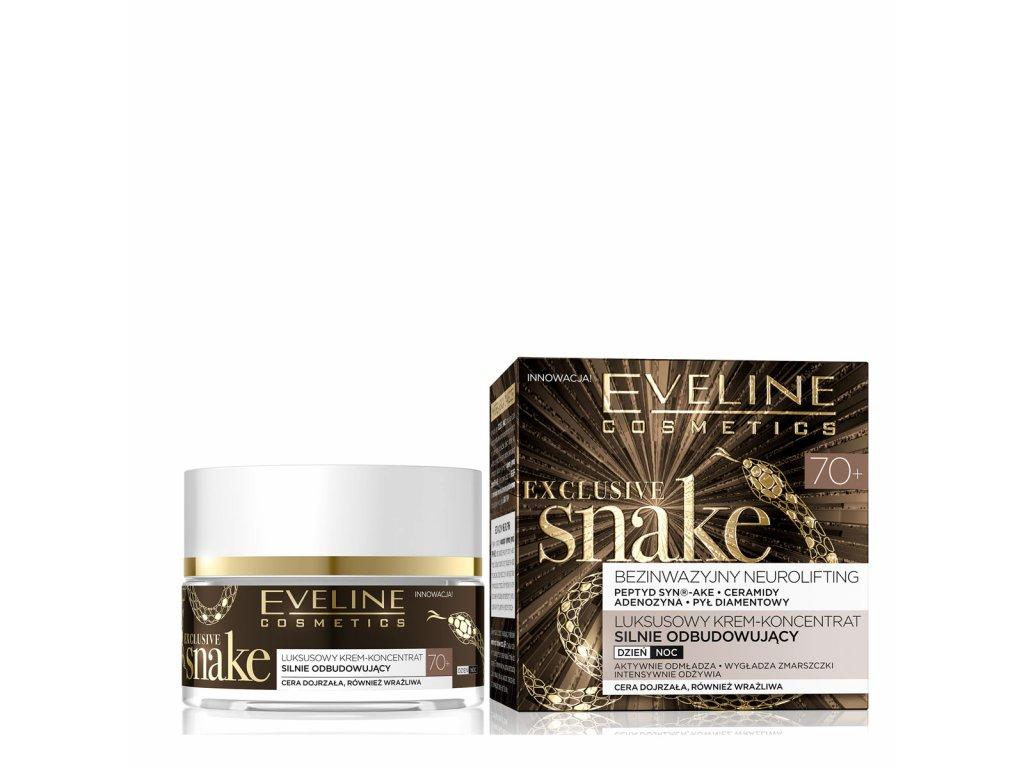 Eveline cosmetics Exclusive snake, pleťový krém s hadím jedem 70+ | evelio.cz