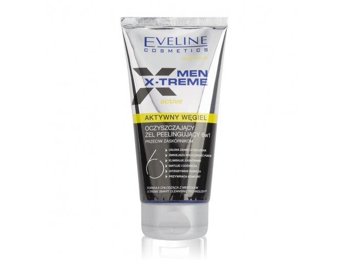 Aktnivní peeling-gel pro muže, mentolová vůně, chladivý efekt, zabrání tvorbě černých teček, nevysušuje | evelio.cz