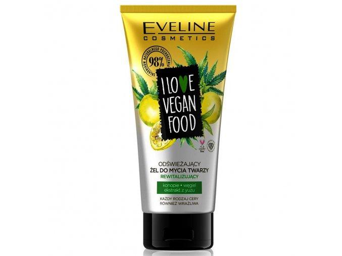 eveline cosmetics I love vegan food osvěžující mycí gel   evelio.cz
