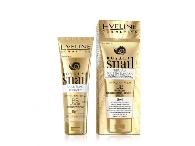 Eveline cosmetics Roayl snail Matující BB krém | eve