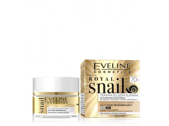 Eveline cosmetics Royal snail 70+, pleťový krém pro zralou pleť, hlemýždí sliz | evelio.cz
