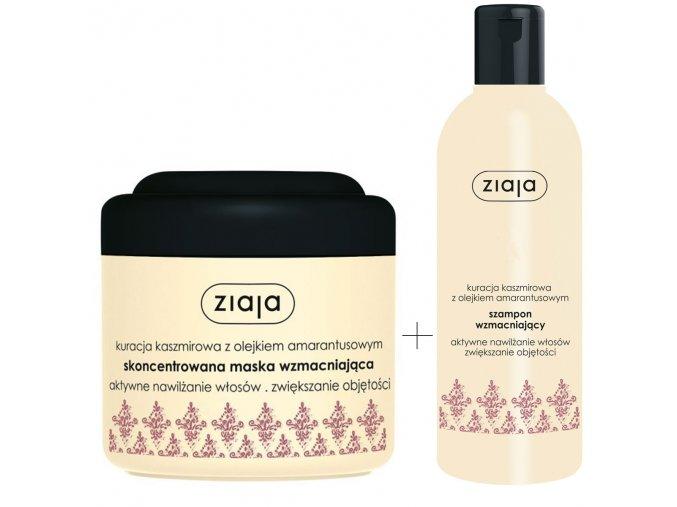 Ziaja kašmír vlasová sada | šampon na vlasy, maska na vlasy s keratinem | evelio.cz