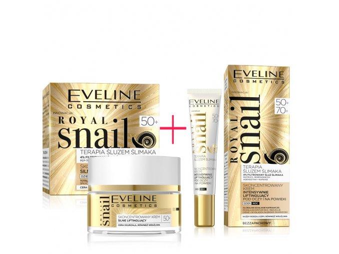 Eveline cosmetics Royal snail Pleťový krém a oční krém 50+   evelio.cz