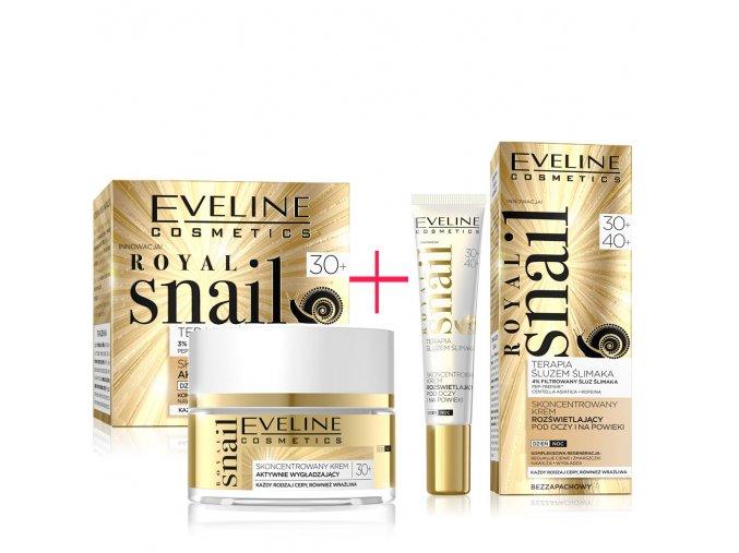 Eveline cosmetics Royal snail Pleťový krém a oční krém 30+, pěstící krémy s hydratačním účinkem   evelio.cz