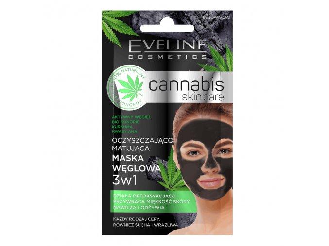 Eveline cosmetics Cannabis skincare pleťová maska