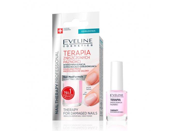 eveline cosmetics nail therapy terapie zničených nehtů