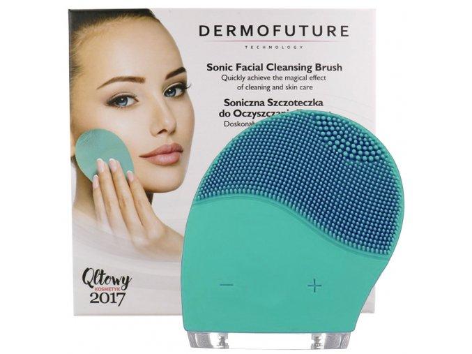 DermoFuture Sonický čistící kartáček zelený 1