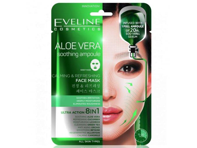 Eveline cosmetics Plátýnková pleťová maska ALOE VERA | evelio.cz