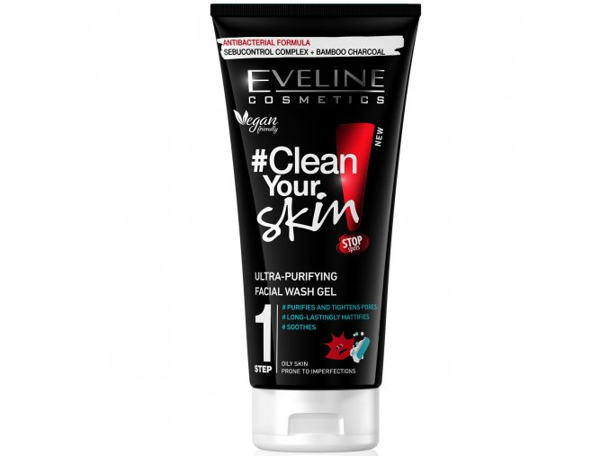 Eveline cosmetics Clean your skin Mycí gel | evelio.cz