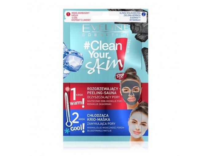 Eveline cosmetics Clean your skin pleťová maska + peeling | evelio.cz