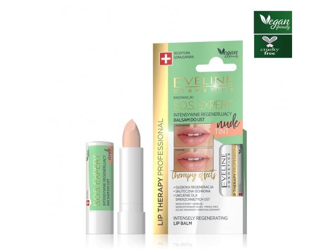 Eveline cosmetics S.O.S. Intensivní regenerační pomáda nude
