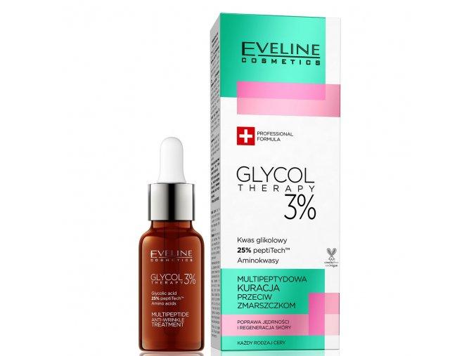 Eveline cosmetics Glycol Therapy Multi-peptidové sérum proti vráskám | evelio.cz