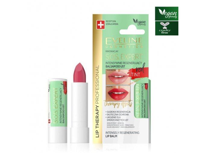 Eveline cosmetics S.O.S. Intensivní regenerační pomáda red | evelio.cz