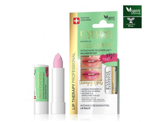 Eveline cosmetics S.O.S. Intensivní regenerační pomáda rose | evelio.cz