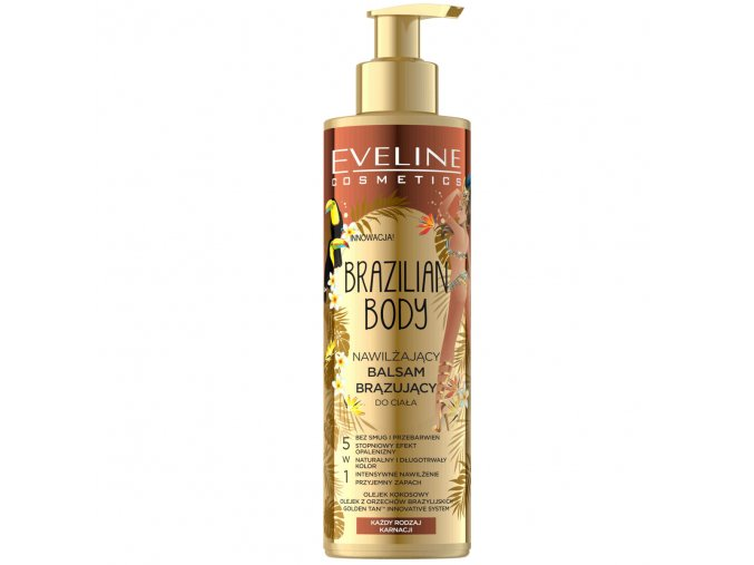Eveline cosmetics Brazilian body hydratační samoopalovací balzám na tělo | evelio.cz