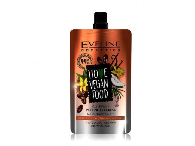 Eveline cosmetics I love vegan food tělový peeling káva | evelio.cz