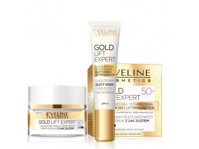 eveline cosmetics Gold lift expert sada 50+, pleťová kosmetika pro zralou pleť   evelio.cz