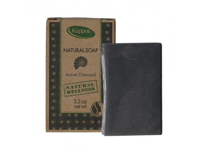 Kappus Natural Soap Active Charcoal, Přírodní mýdlo s aktivním uhlím | evelio.cz