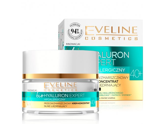 Eveline cosmetics bio Hyaluron Expert Pleťový krém 40+ | evelio.cz