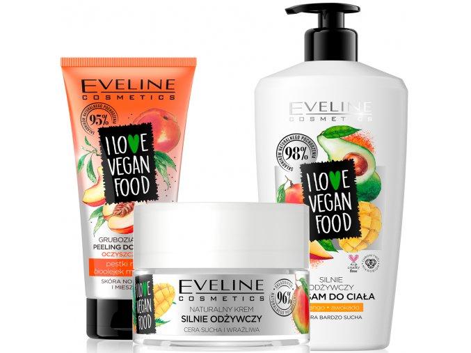 Eveline cosmetics I love vegan food Vyživující sada pro pleť i tělo | evelio.cz