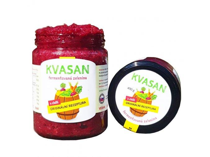Kvašená zelenina KVASAN CHILLI | poznejte mix fermentované zeleniny | evelio.cz