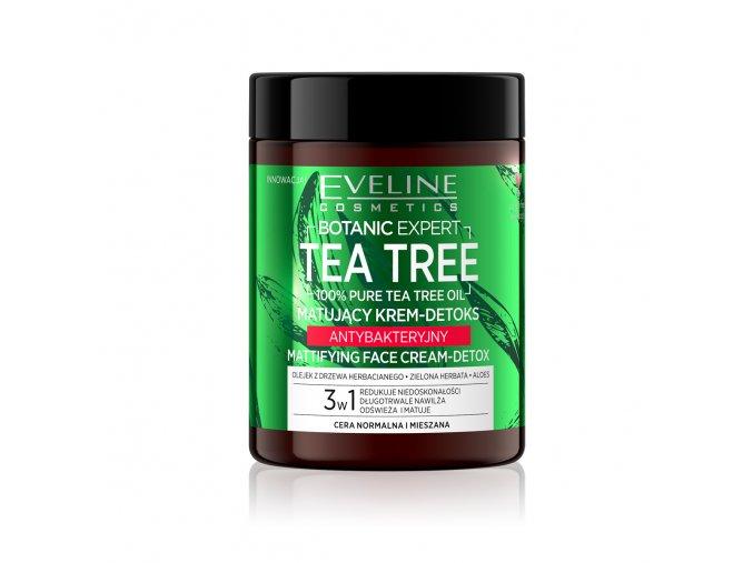 Eveline cosmetics Botanic Expert Tea Tree Matující krém-detox antibakteriální 100 ml   evelio.cz