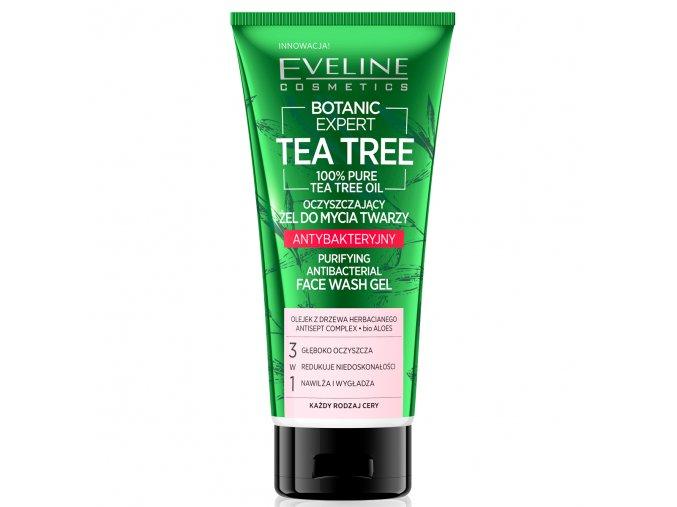 Eveline cosmetics Botanic Expert Tea Tree Anti-bakteriální čistící gel na tvář 3v1 175 ml   evelio.cz