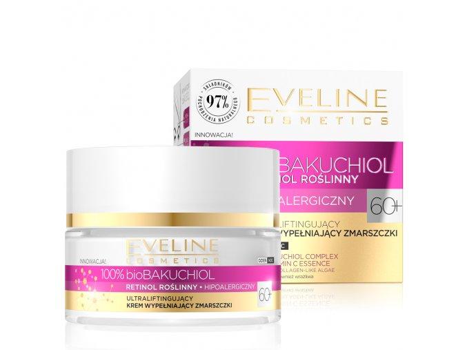 Eveline cosmetics bio BAKUCHIOL 60+ ultra-liftingový krém vyplňující vrásky 50 ml   evelio.cz