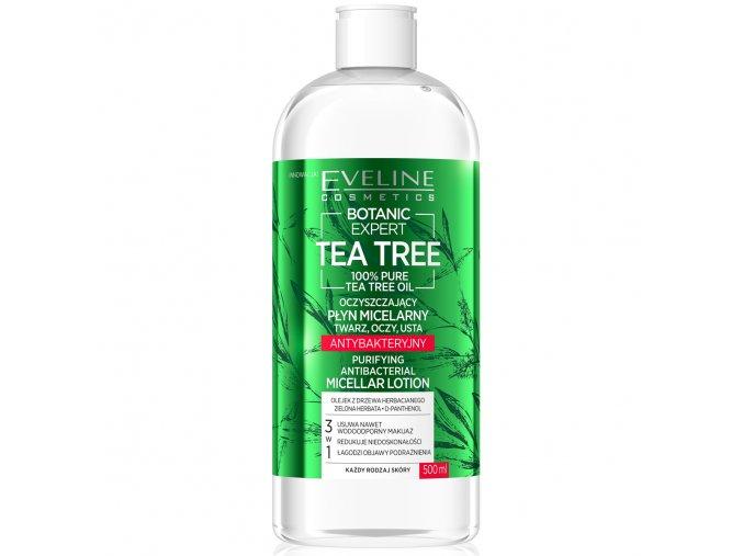 Eveline cosmetics Botanic Expert Tea Tree Micelární tonikum 500 ml | evelio.cz