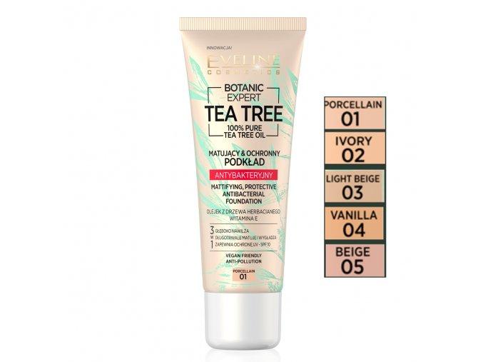 Eveline cosmetics tea tree Podkladový make up ÚVODNÍ