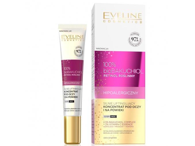 Eveline cosmetics bio BAKUCHIOL Liftingující oční krém na okolí očí a oční víčka 50 ml   evelio.cz