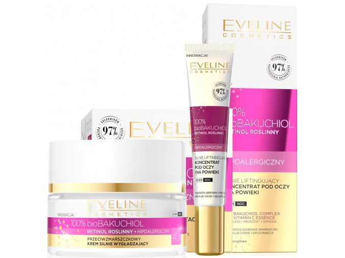 Eveline cosmetics bio bakuchiol sada 40+   evelio.cz