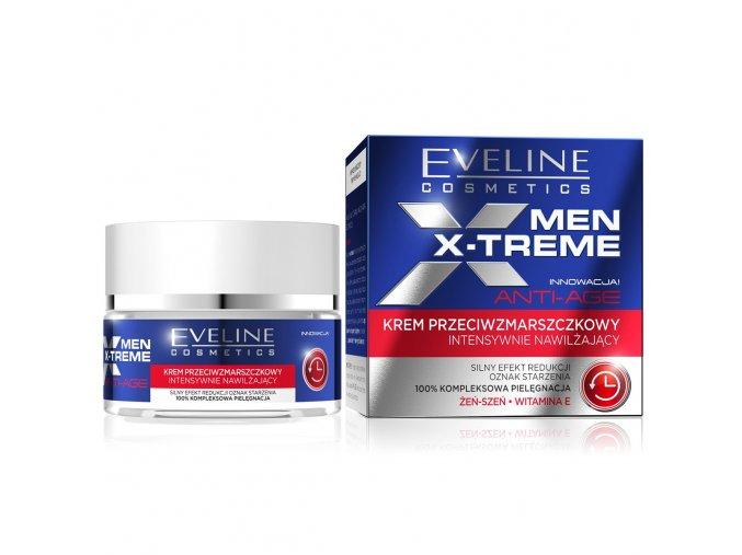 Eveline cosmetics Men X treme protivrásková krém s intenzivní hydratací | evelio.cz