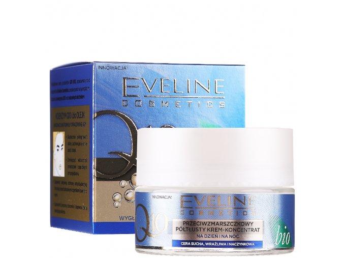 Eveline cosmetics Q10 bio Protivráskový polomastný krém na den i noc | evelio.cz