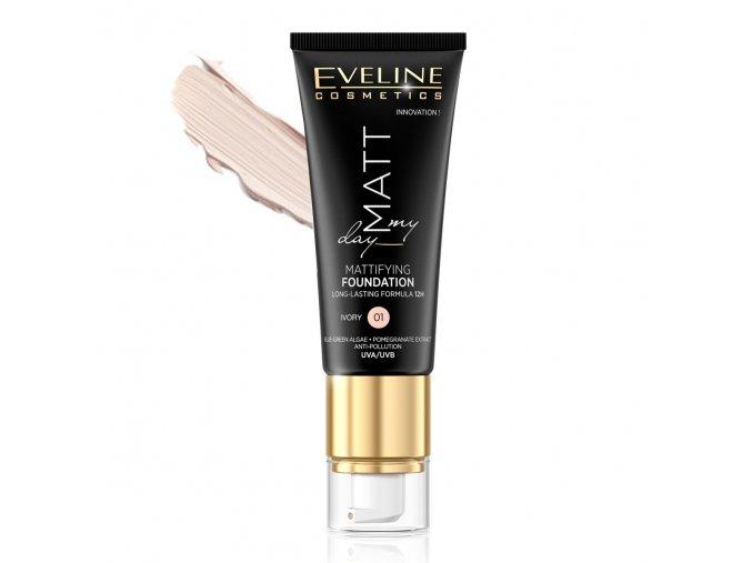 Eveline Cosmetics Matt My Day Dlouhotrvající make-up odstín 01 IVORY