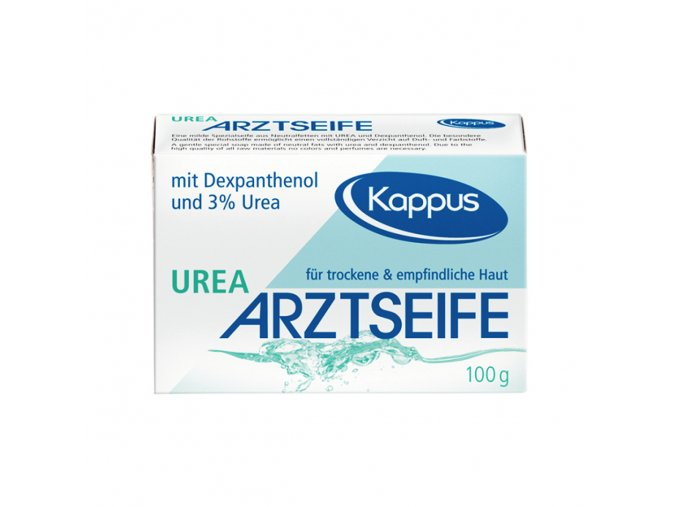Kappus Lékařské antibakterialní mýdlo s dexpanthenolem a ureou 100g | evelio.cz