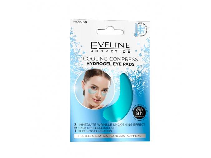 Cooling hydrogel eye pads