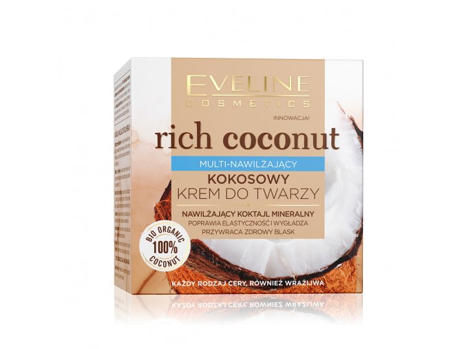 Eveline cosmetics Rich Coconut Multi-hydratační kokosový pleťový krém   evelio.cz