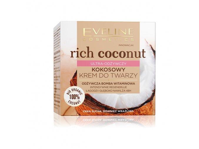 Eveline cosmetics Rich Coconut Ultra-výživný kokosový pleťový krém 50 ml   evelio.cz