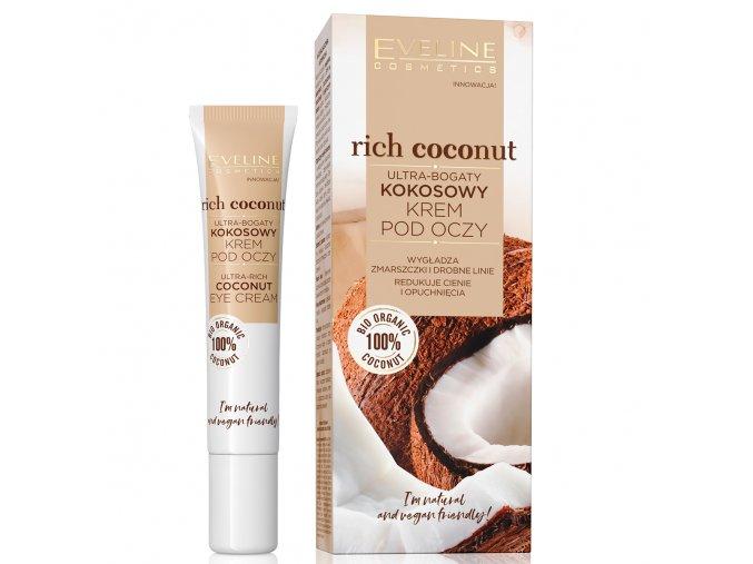 Eveline cosmetics Rich Coconut Ultra-bohatý kokosový oční krém 20 ml   evelio.cz