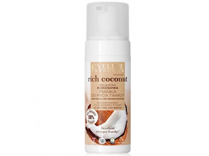 Eveline cosmetics Rich Coconut Jemná čistící pěna na tvář 150 ml   evelio.cz