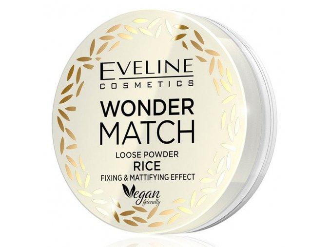 Eveline cosmetics WONDER MATCH fixačný a matující sypký pudr s rýžovým práškem  6 g
