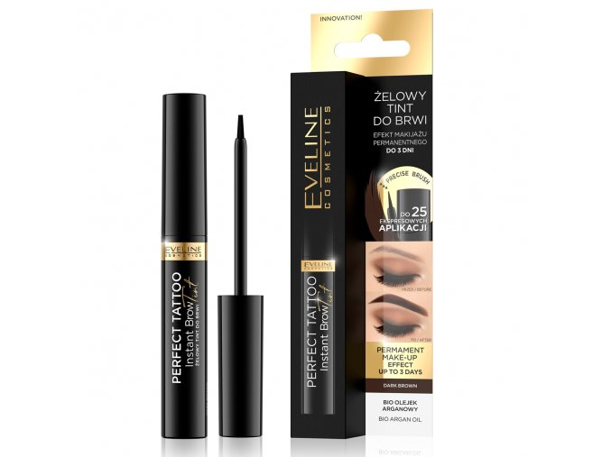 Eveline cosmetics Perfect TATOO Gelový tint na obočí 6 ml   evelio.cz