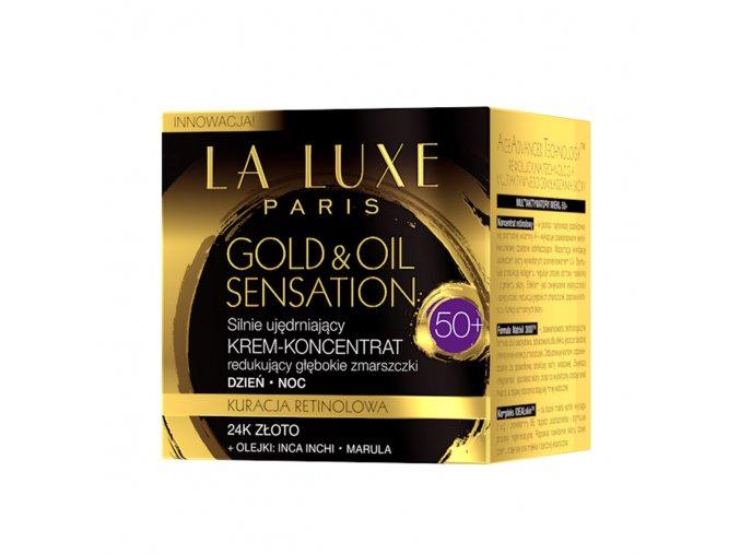 La Luxe Paris Gold & Oil Sensation Protivráskový zpevňující krém-koncentrát 50+ 50 ml   evelio.cz